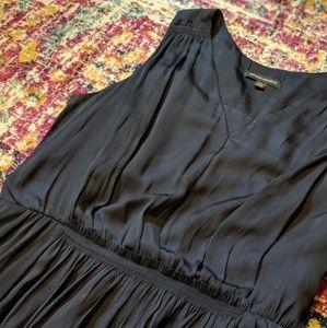 Dark Navy blue Grecian inspired v neck dress | BR